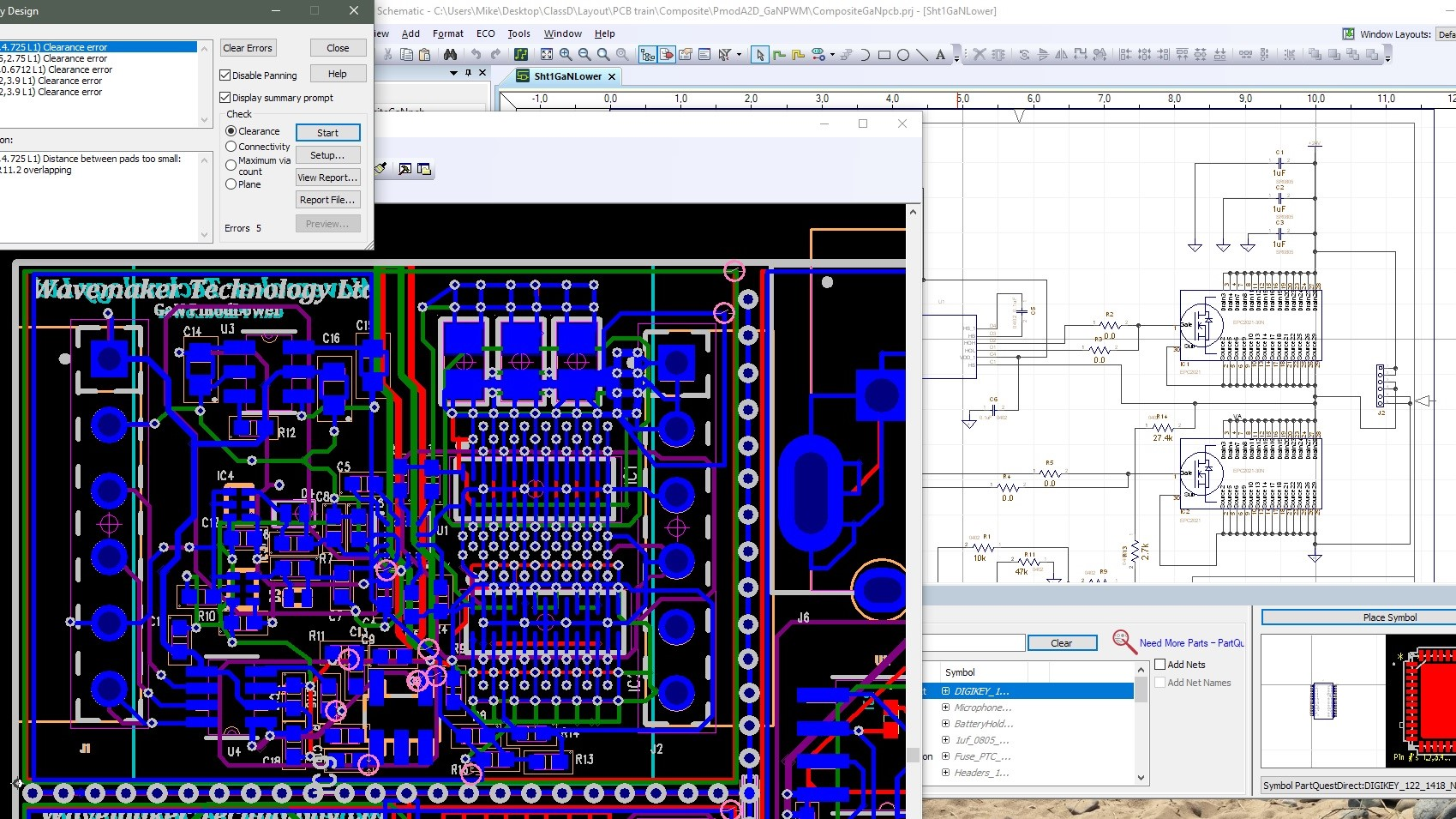 PCB in layout